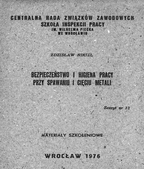 Okładka materiałów szkoleniowych z 1976 roku