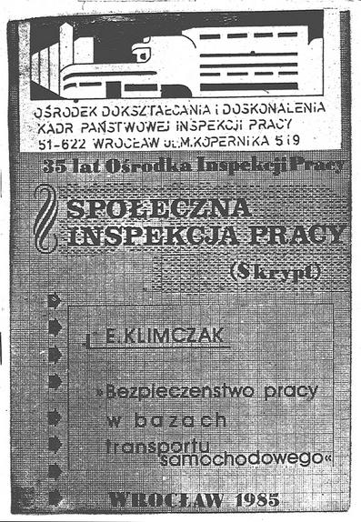 Okładka skryptu materiałów dla społecznej inspekcji pracy