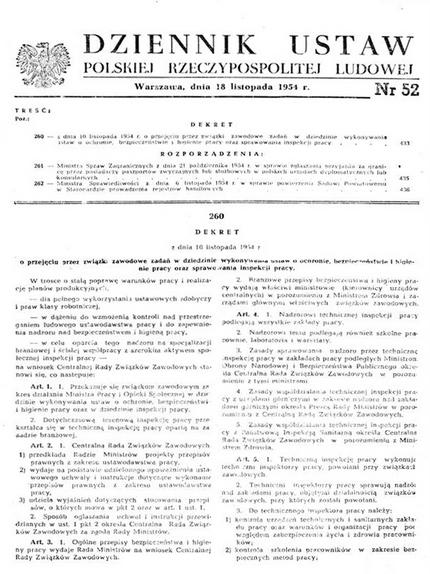 Dekret z 10 listopada 1954 roku