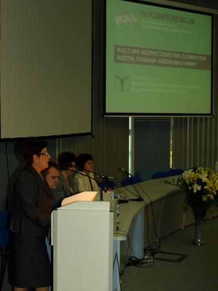 Wykład podczas konferencji dla pracowników służby bhp