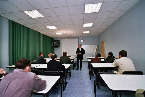 Szkolenie w nowej sali wykładowej